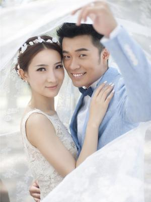 陈赫许婧婚纱照