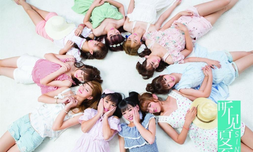 90后内地女子偶像团体SING女团写真