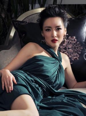 叶倩文深色美裙尽显绝代风华写真