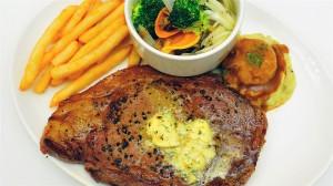 美味诱人的烤牛排高清桌面壁纸