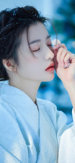 日式和服养眼元气少女手机壁纸