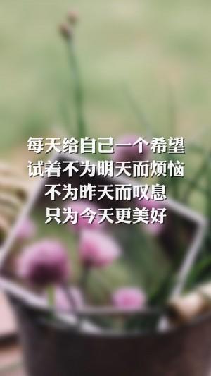 生活正能量文字语录唯美图片壁纸