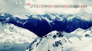 2020年6月巍峨的雪山唯美高清日历壁纸