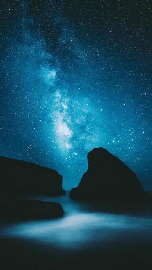 璀璨星空背景图