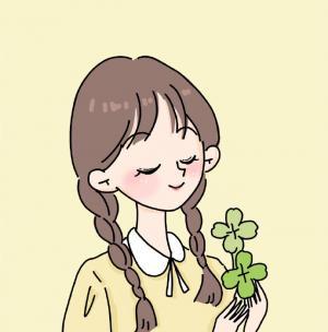 春天绿色小清新女孩可爱头像