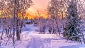 黄昏日落唯美意境高清桌面壁纸