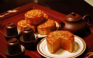 中国传统节日中秋节美味月饼图片桌面壁纸