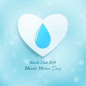 2019年3月22日世界水日水滴創意高清宣傳圖片