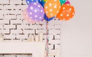 浪漫唯美多彩气球