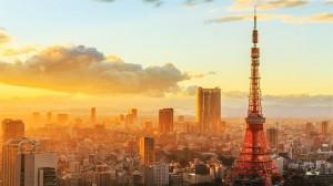日本东京铁塔壮丽高清桌面壁纸