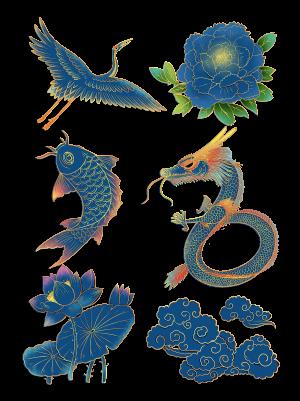 2020流行色经典蓝中国风装饰