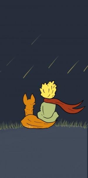 童话《小王子》手绘简约治愈手机壁纸
