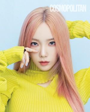 金泰妍粉发御姐Cosmopolitan Korea封面大片