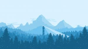 简约平面风格风景设计图片