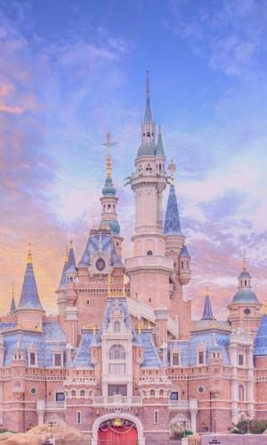 上海迪士尼唯美城堡手机壁纸