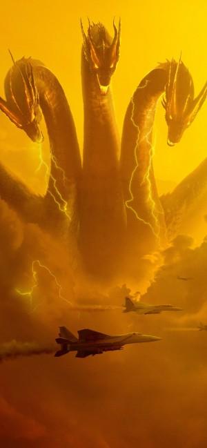 电影哥斯拉2怪兽之王的怪兽霸气手机壁纸