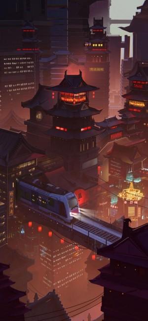 高清城市夜景手机壁纸