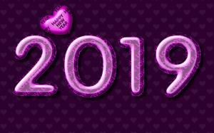 2019年创意艺术字图片桌面壁纸