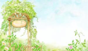 唯美可爱卡通世界的梦幻背景图片
