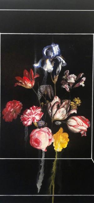 手绘意境花朵插画高清手机壁纸