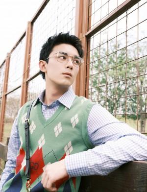 吴磊金丝边眼镜文艺气质写真图片