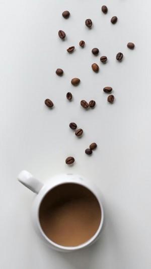简约文艺咖啡杯图片手机壁纸