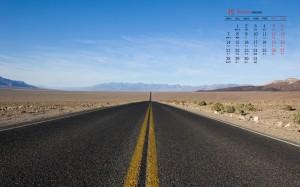 2019年10月公路风景日历壁纸