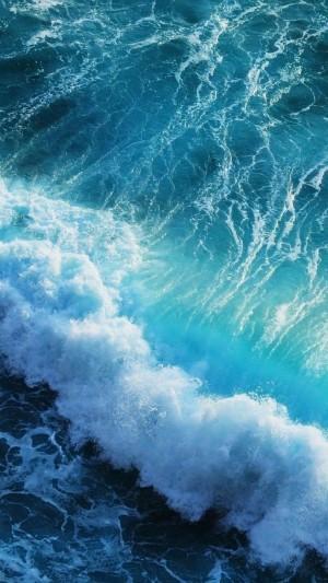 唯美大海浪花风景