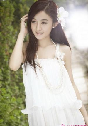 赵丽颖清新少女写真图片