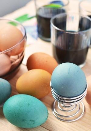 五颜六色的复活节手绘彩蛋图片大全