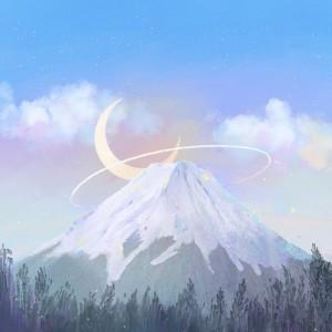 风景系列插画《起风了》