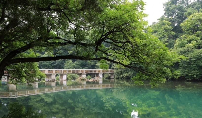 贵州省贵阳市花溪公园风景写真