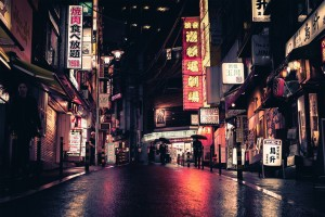 东京唯美夜市景象