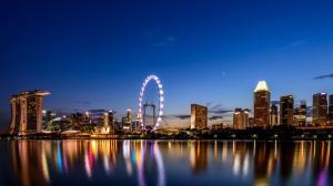 新加坡城市夜景