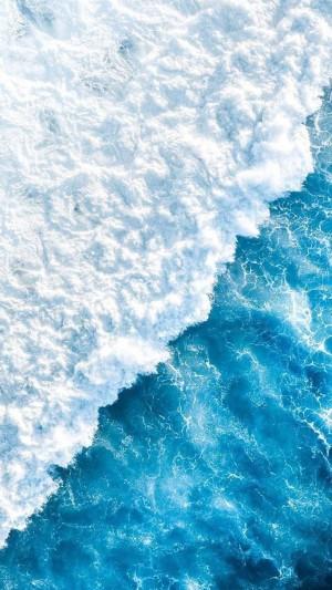 蔚蓝大海白色浪花凉爽养眼写真