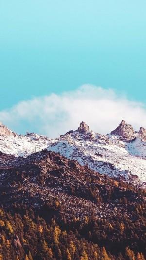 冰雪覆盖的山脉