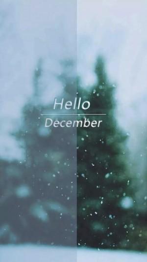 十二月你好唯美风景文字图片壁纸