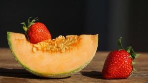 清甜可口的哈密瓜