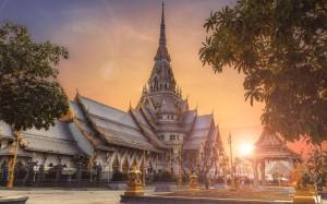 泰國異國風情歷史悠久建筑風格景色