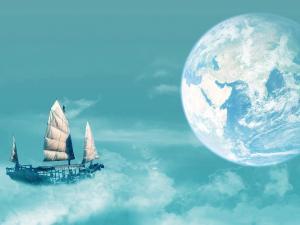 中秋节唯美月亮图片桌面壁纸
