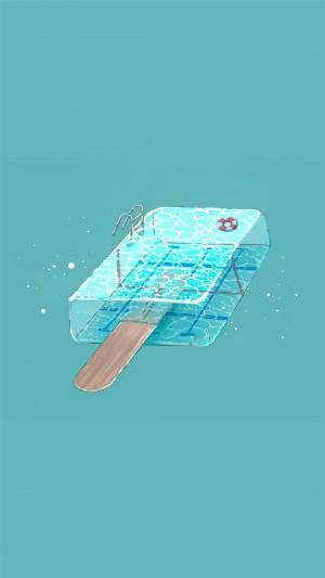 夏日创意小物件手绘高清手机壁纸