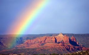 雨后唯美彩虹自然风光图片