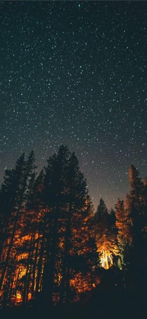 璀璨繁星的夜晚