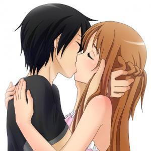 二次元动漫情侣亲吻