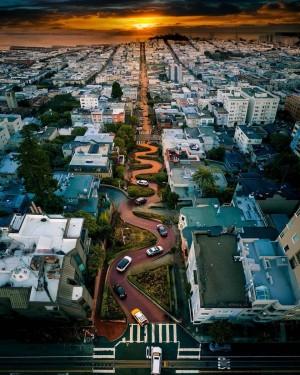 旧金山的傍晚