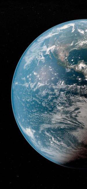 唯美地球全面屏高清手机壁纸