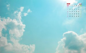 2020年5月透亮清新云海风光意境日历写真