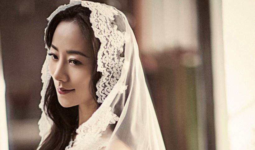 美女明星韩雪婚纱时尚写真