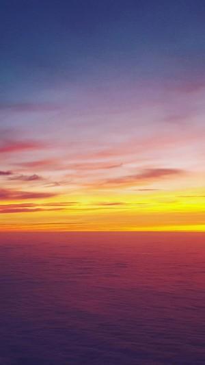 余晖下的迷人夕阳