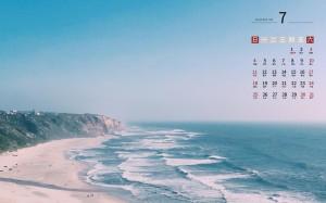 2021年7月唯美海边风光日历壁纸